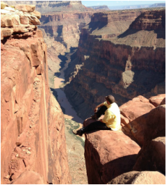 Pondering deep thoughts over the Grand Canyon